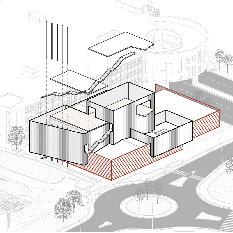 Schema compositivo 4 - percorso e terrazze panoramiche L. Giannini}