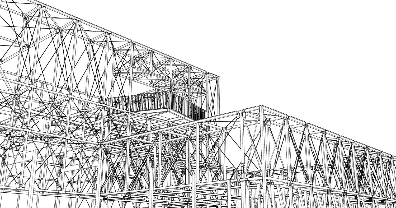 Modello della struttura in acciaio L. Giannini}