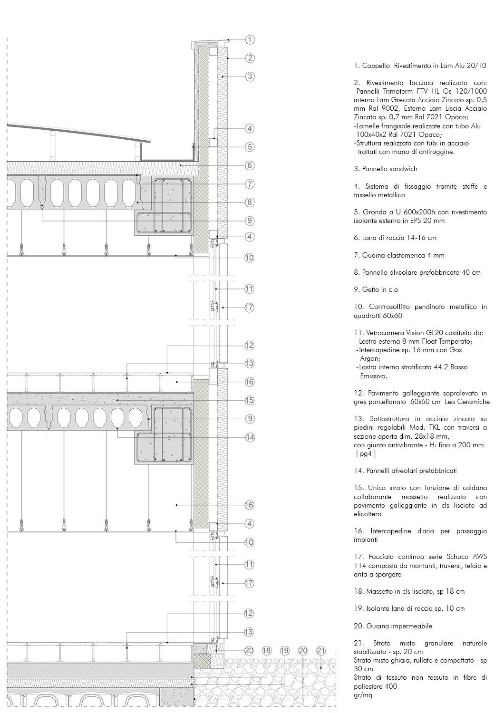 Sezione di dettaglio 1 EFA studio di architettura}