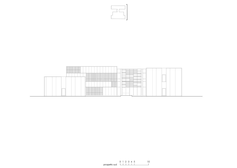 Prospetto sud EFA studio di architettura}