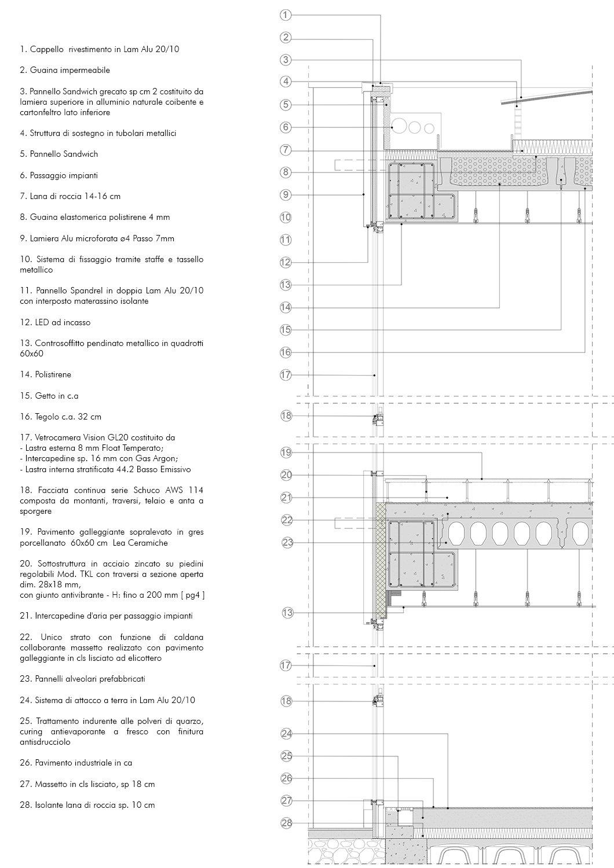 Sezione di dettaglio 2 EFA studio di architettura}