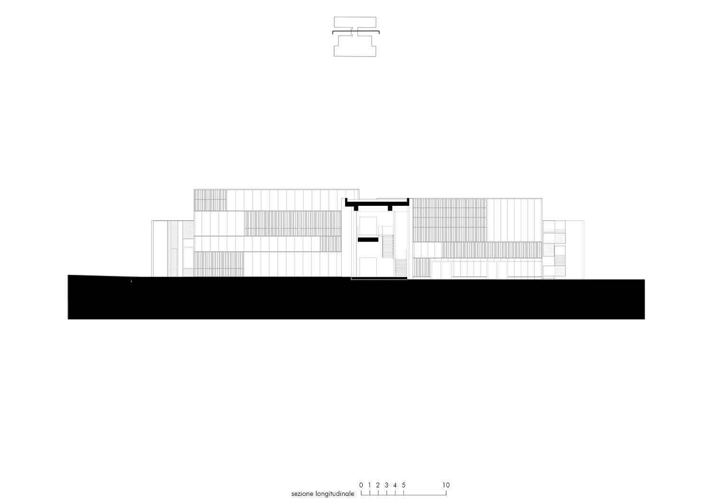 Sezione longitudinale EFA studio di architettura}
