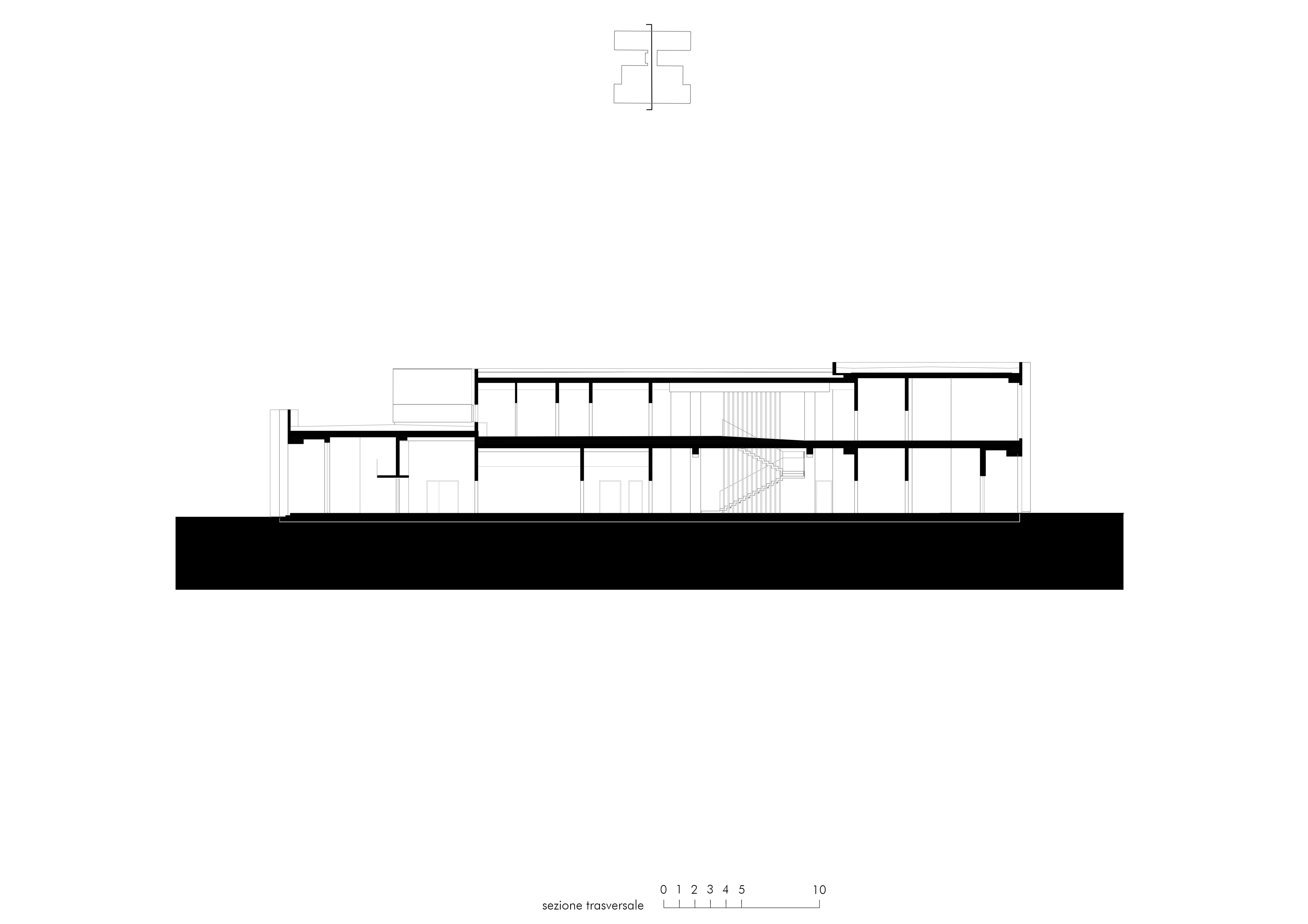 Sezione trasversale EFA studio di architettura}