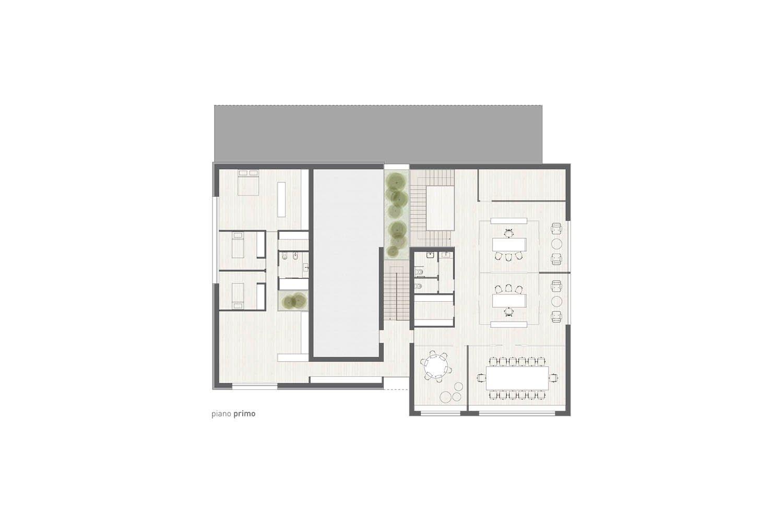 pianta piano primo Studio Roberto Nicoletti Architettura e Design}