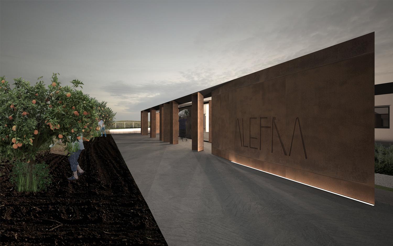 Render-Vista Nord-Ovest Claudio Grasso & Federica Miranda Architects