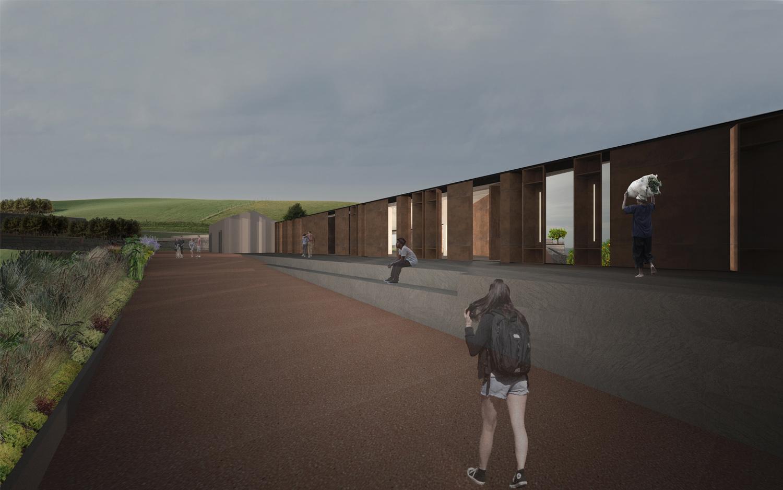 Render-Vista Sud-Est Claudio Grasso & Federica Miranda Architects