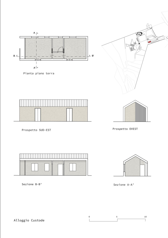 Alloggio Custode Claudio Grasso & Federica Miranda Architects}