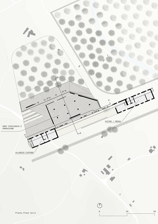 Area Stoccaggio e Produzione Claudio Grasso & Federica Miranda Architects}