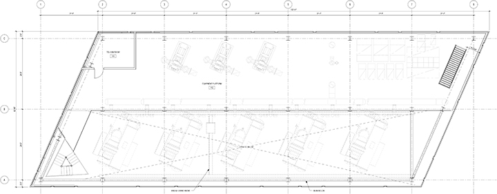 Mezzanine level floor plan Leers Weinzapfel Associates}