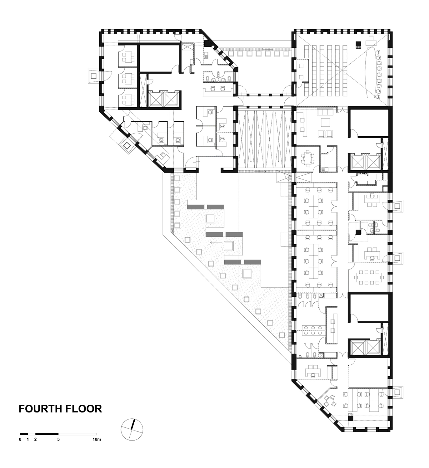 FOURTH FLOOR PLAN GONZALO MARDONES ARQUITECTOS}