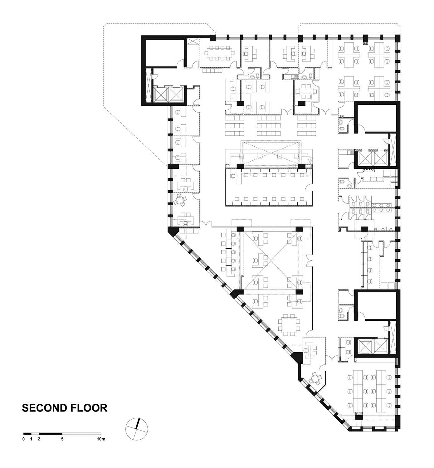SECOND FLOOR PLAN GONZALO MARDONES ARQUITECTOS}