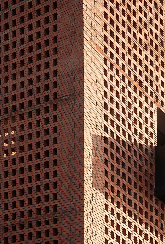 Detail of brick facade Zhi Geng