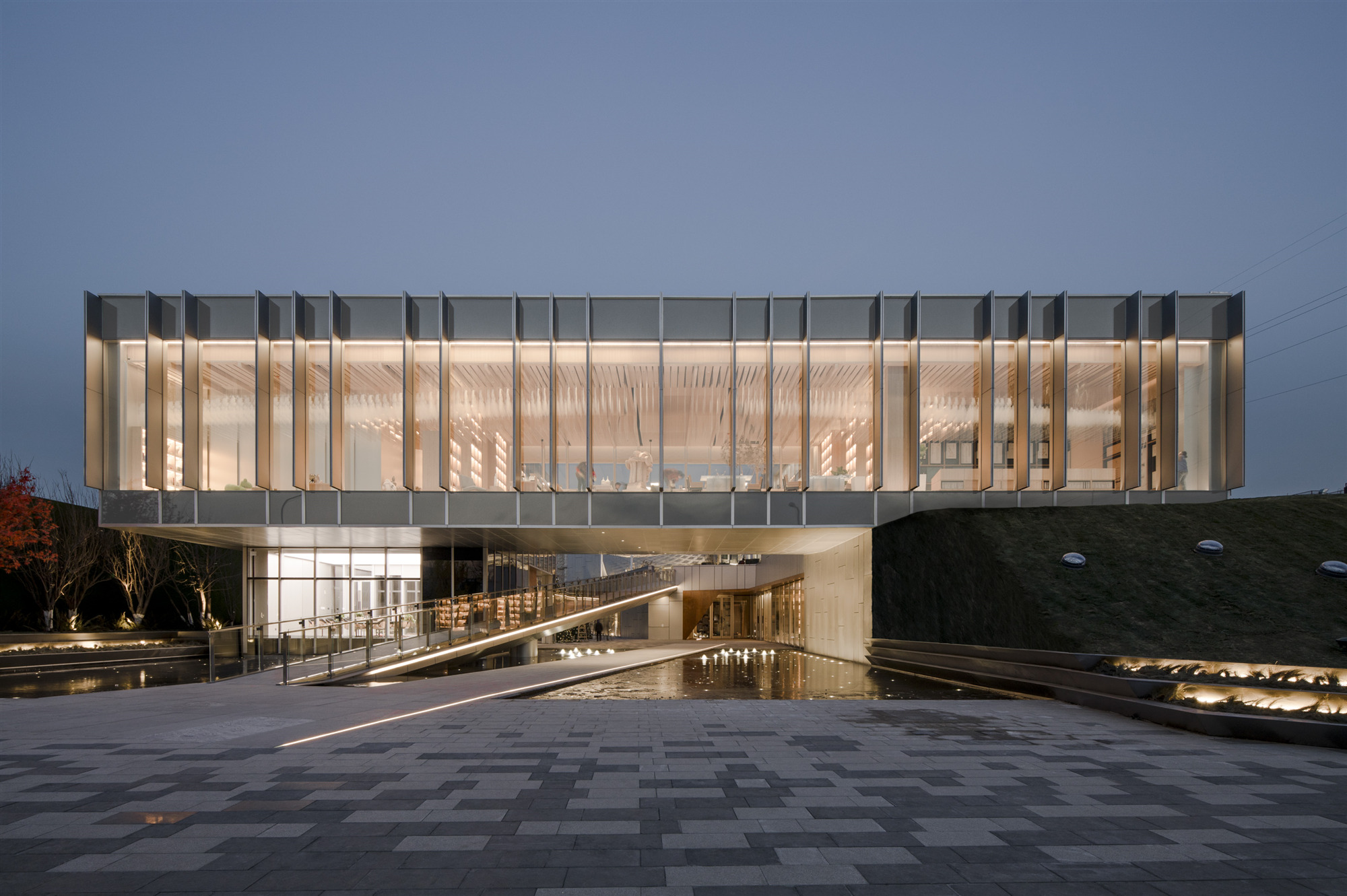 Elevation View-Night view Lacime Architects