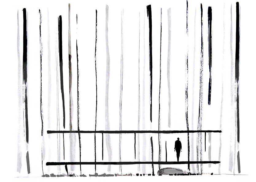 drawing. in between pavilion, Oawa mountain, Japan x-studio : : Ivan Juarez}
