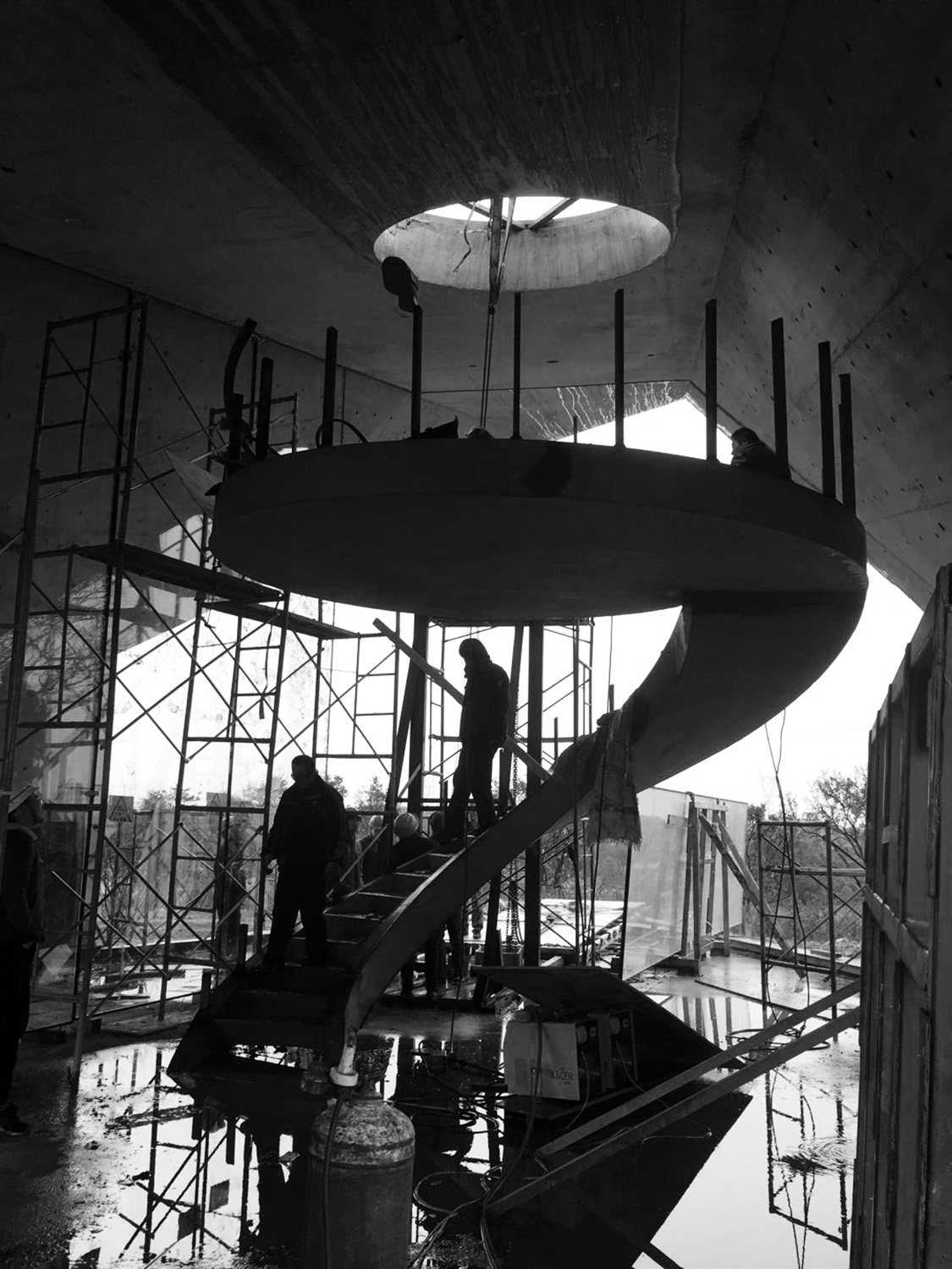 Spiral staircase in construction GBBN