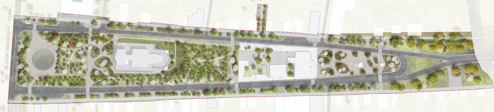 Plan for (re)development on the target territory Strelka KB}