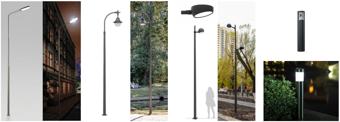 Lighting poles Strelka KB}