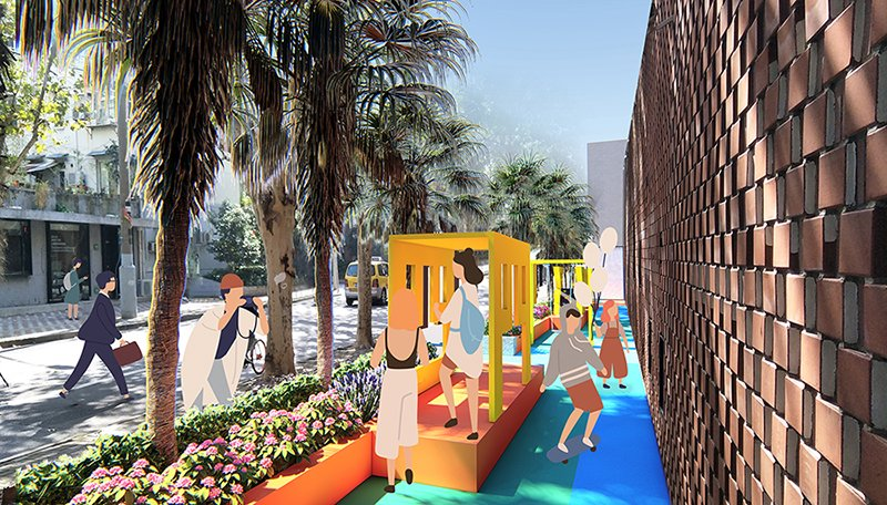 Rendering#4 of Shanghai Playscape Environmental Futures Lab.}