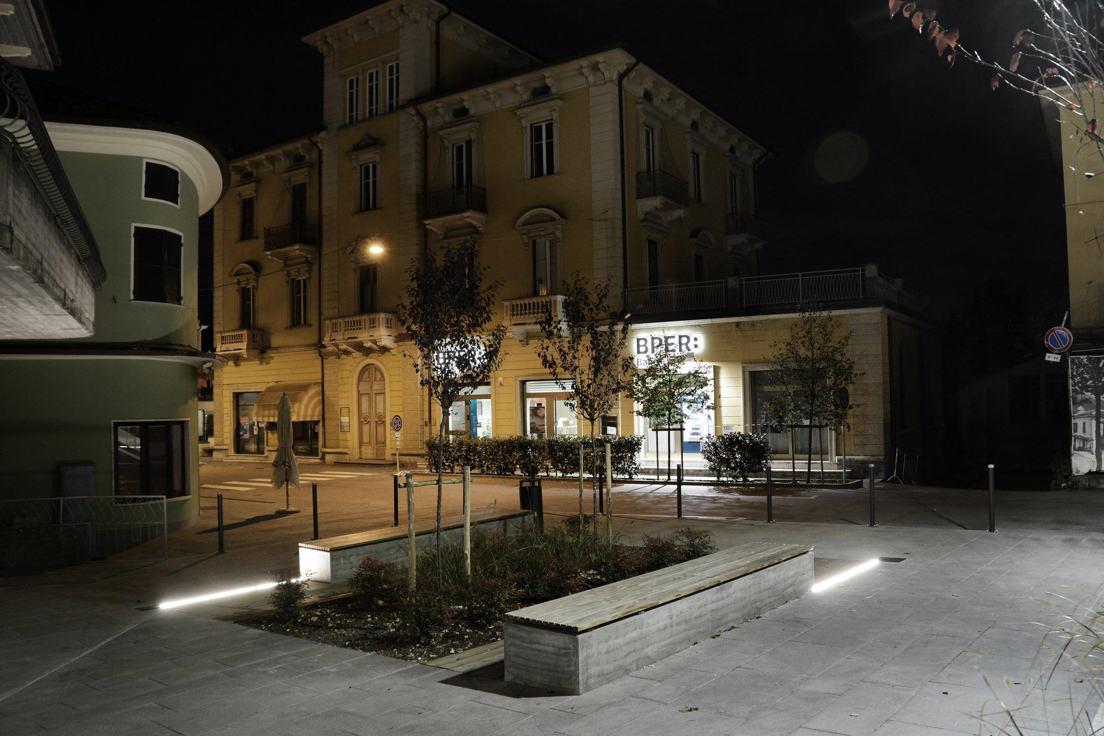 Vista serale area verde Francesco Adorni