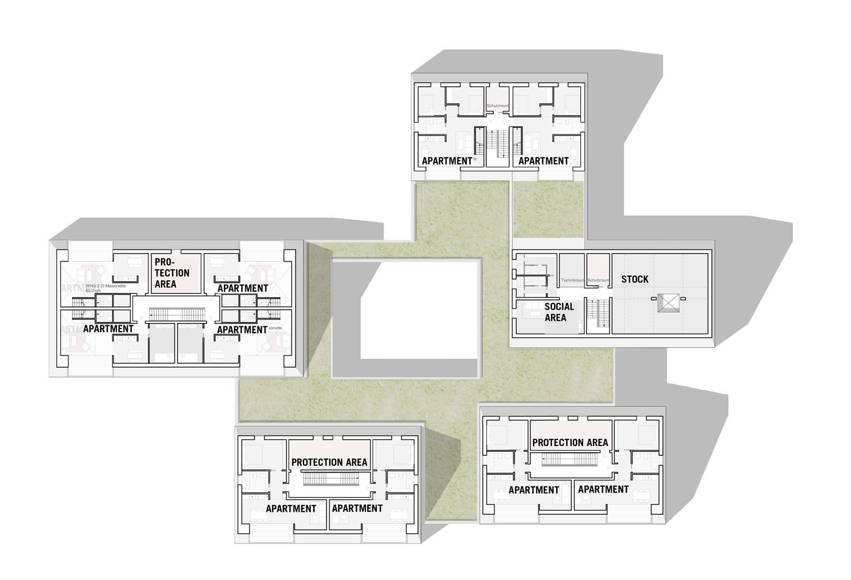 1st floor plan blauraum Architekten