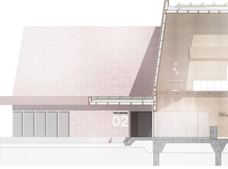 Section facade blauraum Architekten}
