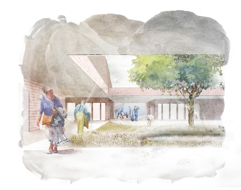 Perspective Courtyard blaruaum Architekten
