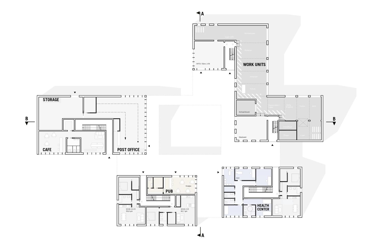 ground floor plan blauraum Architekten