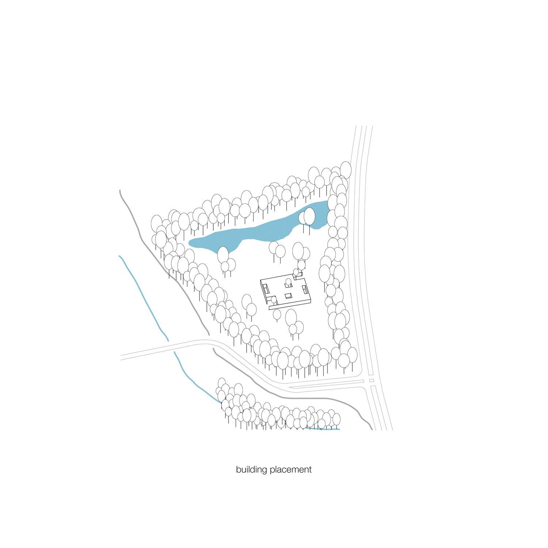 Scheme building placement KAAN Architecten}