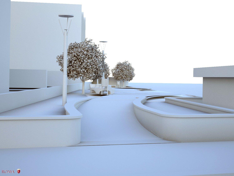 Virtual model - View n° 4 Roma Capitale - Arch .Tommaso Di Pierro