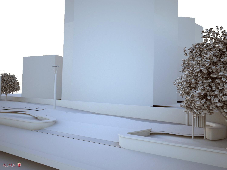 Virtual model - View n° 6 Roma Capitale - Arch .Tommaso Di Pierro