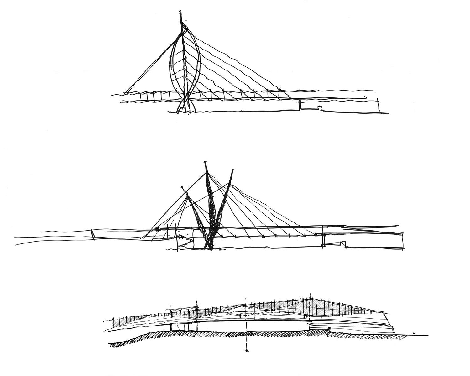 Concept Sketches Fentress Architects}