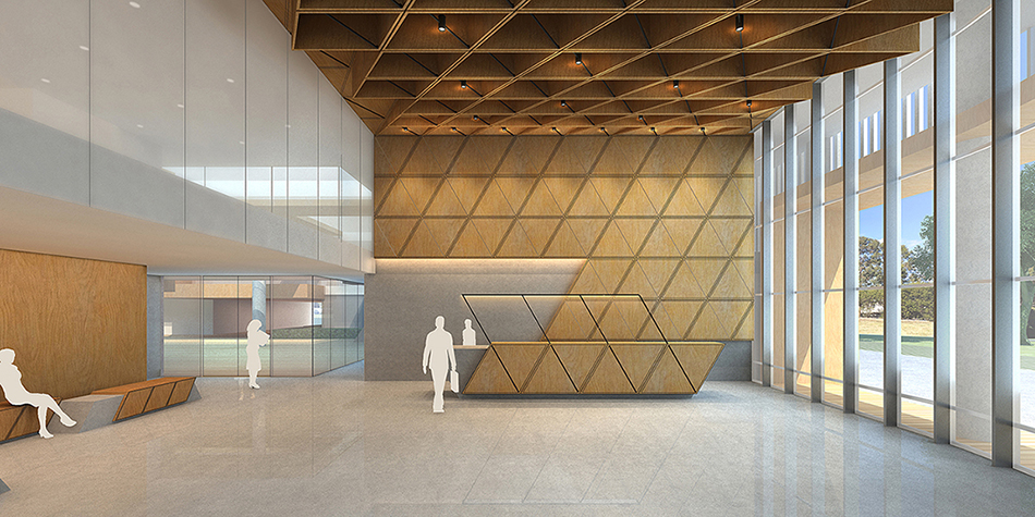 The lobby with reception desk Studio A+