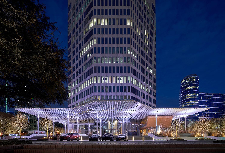Plaza at night from Record Street Dror Baldinger