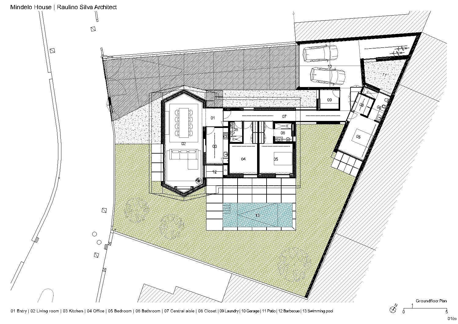 Groundfloor plan Raulino Silva Architect}