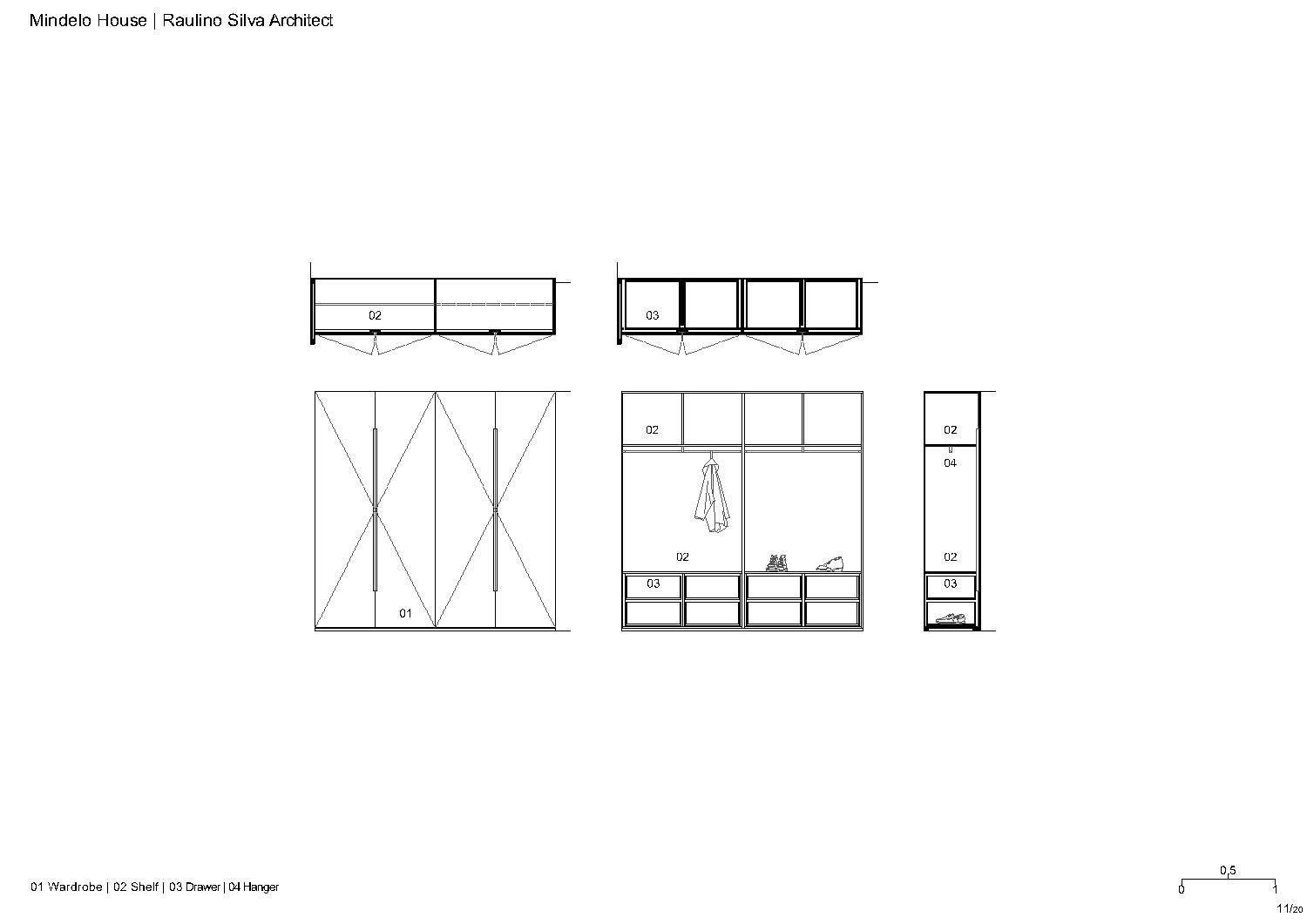 Wardrobe Raulino Silva Architect}