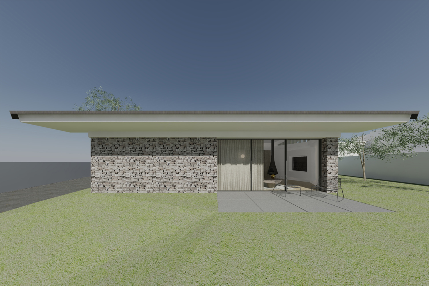 Exterior view Raulino Silva Architect
