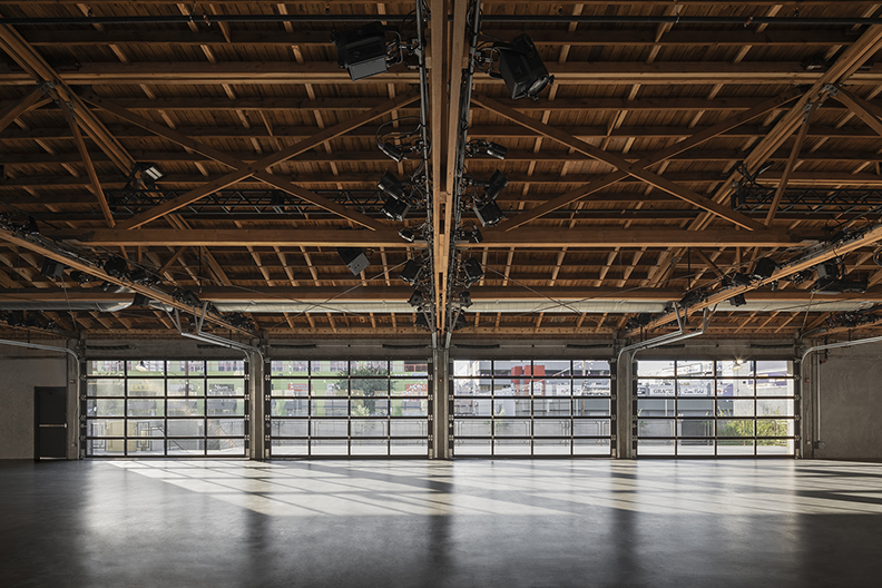 Large Hall - East interior elevation Lawrence Anderson Photography Inc.