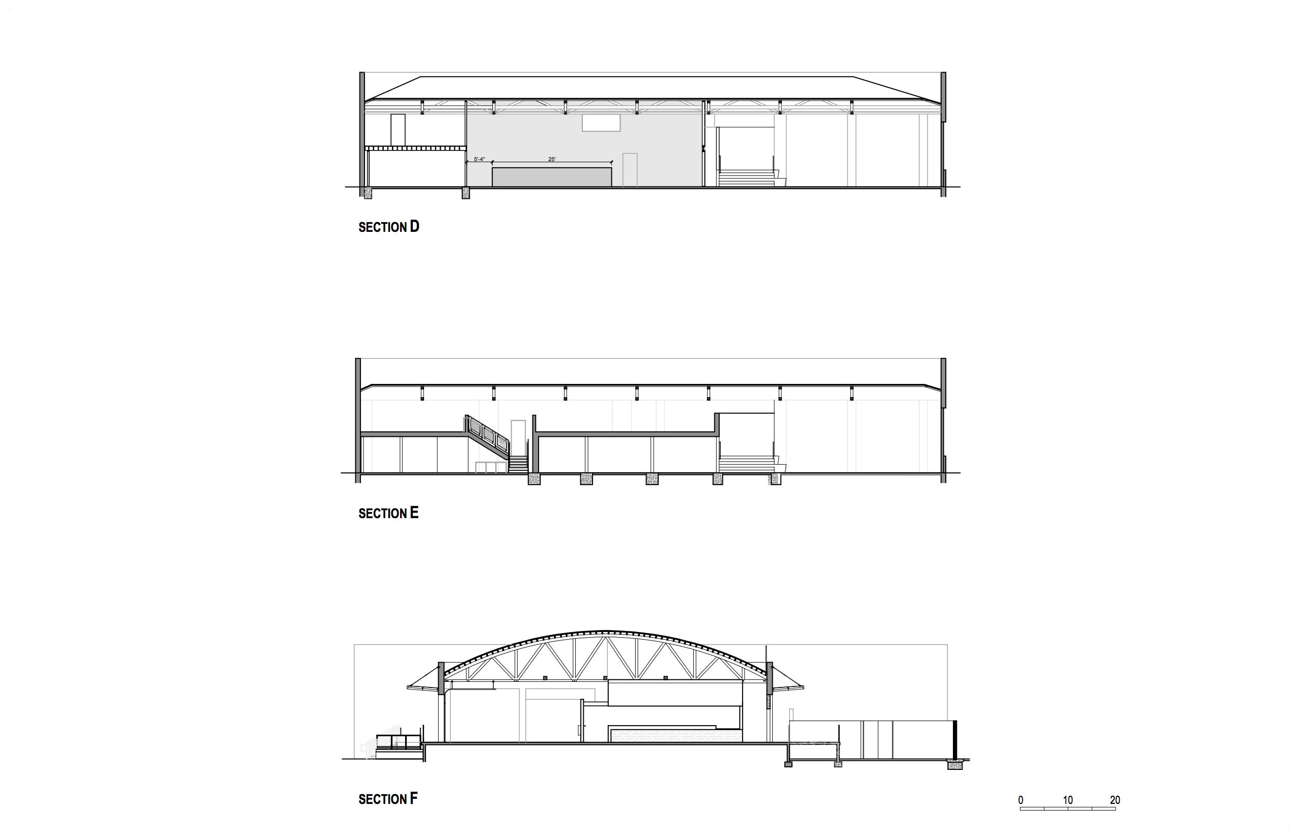 Sections Studio Antares A + E}