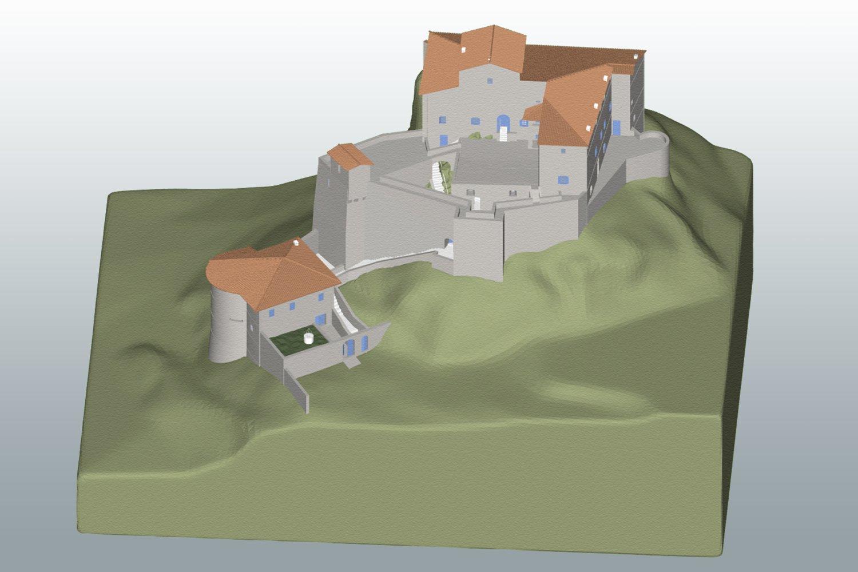 Modello Tridimensionale - Castello di Rossena Rilievi: ABACUS s.a.s. di Botti arch. Stefano & C.}
