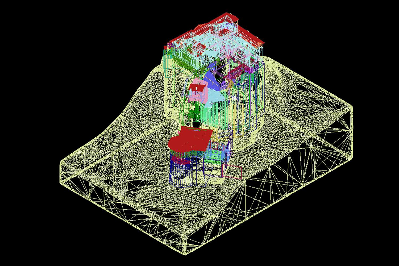Modello Tridimensionale a Nuvola di Punti - Castello di Rossena Rilievi: ABACUS s.a.s. di Botti arch. Stefano & C.}