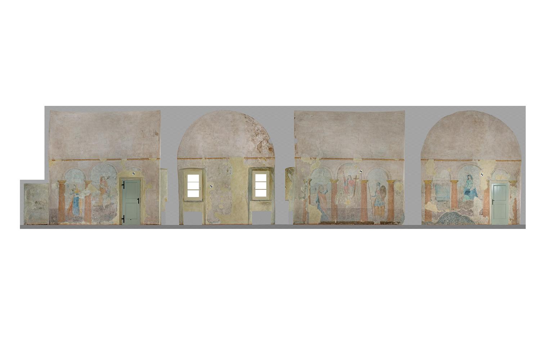 Ricostruzioni Fotogrammetriche - Sala delle Virtù - Castello di Rossena Rilievi: ABACUS s.a.s. di Botti arch. Stefano & C.}