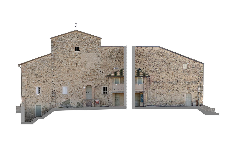 Ricostruzioni Fotogrammetriche - Lato Sud - Castello di Rossena Rilievi: ABACUS s.a.s. di Botti arch. Stefano & C.}