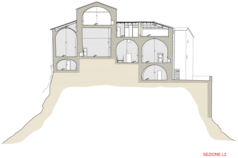 Sezione L2 - Castello di Rossena Binini Partners}