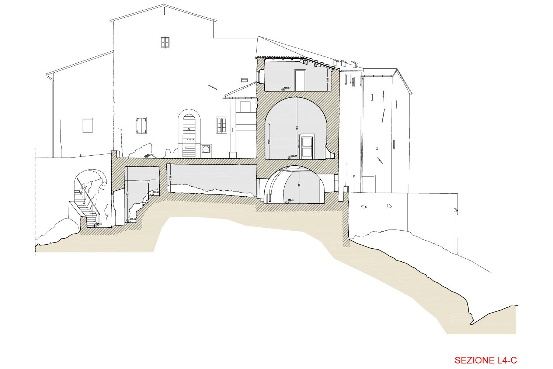 Sezione L4 - Castello di Rossena Binini Partners}