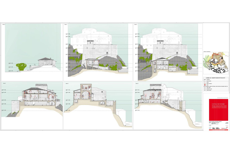Sezioni - Castello di Rossena Binini Partners}