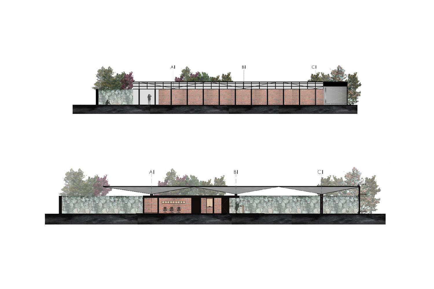 Sections and Facades C Cubica Arquitectos}