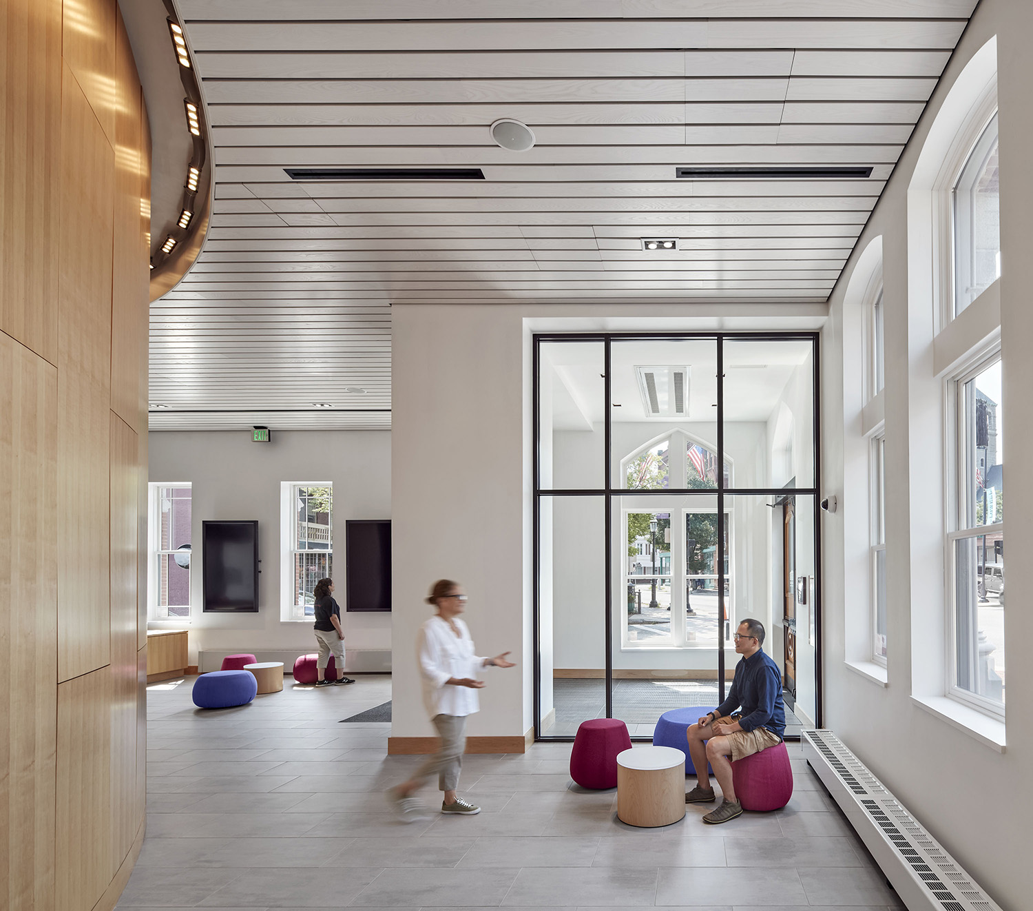 The lobby is bright and airy with informal seating areas Robert Benson
