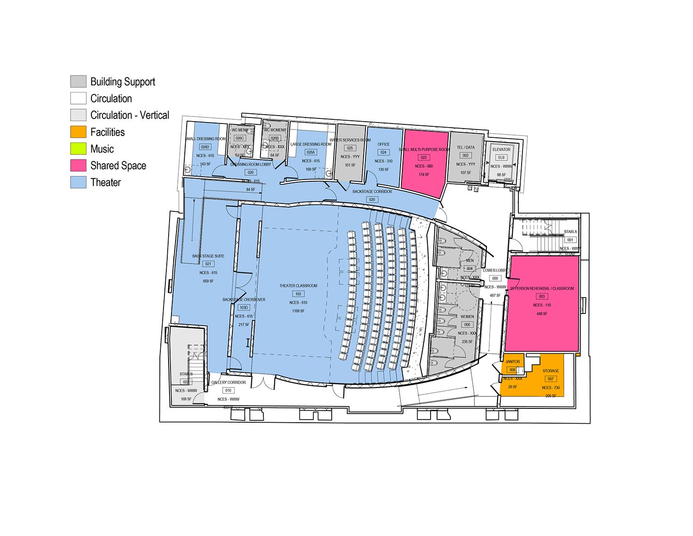 1st floor plan Leers Weinzapfel Associates}