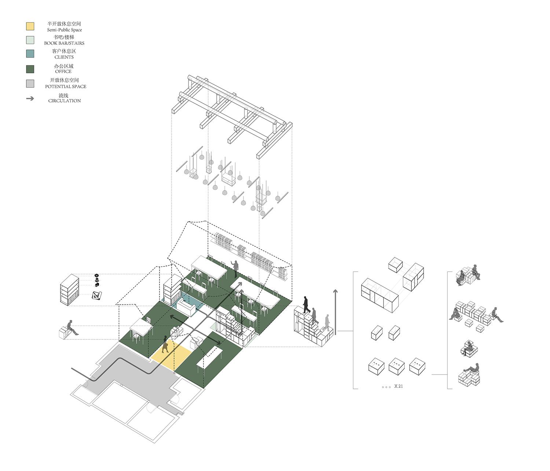 The interior circulation © RSAA/ Büro Ziyu Zhuang}