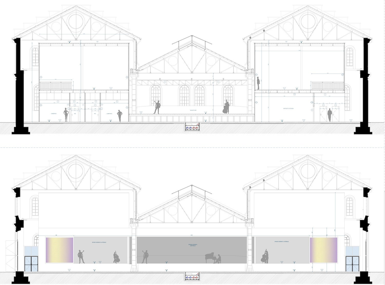 OFFICINE NORD_SEZIONI PALCO FOR ENGINEERING ARCHITECTURE}